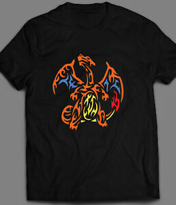 YOUTH SIZE POKEMON CHARIZARD TRIBAL DESIGN T-SHIRT*