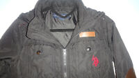 US Polo Assn Kids Padded Jacket Coat Top Long Sleeve Hooded Zip Full Size S (8)