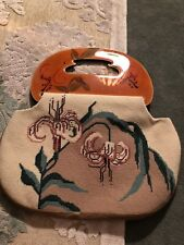 New! Patricia Moon PURSE Moonbag SPECIAL! Cross Stitched!