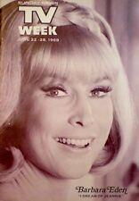 TV Guide 1969 I Dream Of Jeannie Barbara Eden Larry Hagman Regional NM/MT COA
