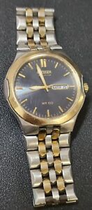 Working Mens Citizen Eco Drive GN-4W-S Automatic Day Date Watch