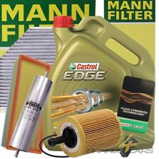 MANN-FILTER INSPEKTIONSPAKET+5L CASTROL EDGE FST 5W-30 LL AUDI A5 8T 2.0 TDI