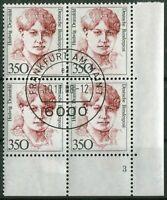 Bund Nr. 1393 Formnummer 3 Viererblock Frauen ERVB gestempelt EST Vollstempel