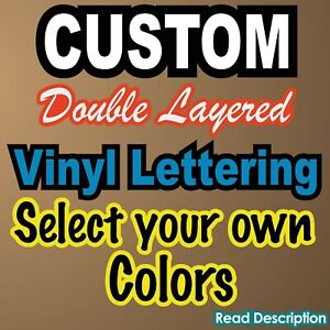 CUSTOM Vinyl Lettering Decal  Background Outline Two Tone  Double Layered  Sign