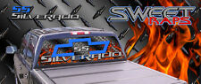 Chevrolet Silverado Rear Window Graphics Decals Perforated Full Color Custom