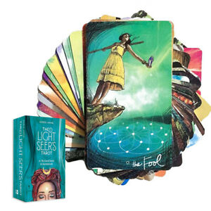 The Light Seer's Tarot Oracle Cards 78-Cards Deck English Guidebook Board Game