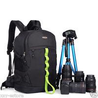 Waterproof Black DSLR SLR Digital Camera Backpack Bag for Canon EOS Nikon Sony