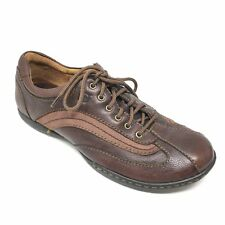 Women's Born Palmera Shoes Sneakers Size 9.5M Brown Leather Outdoor Casual Q13
