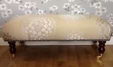 Footstool Stool In Laura Ashley Coco Pewter Fabric