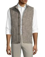NWT Peter Millar Expedition Vest Button Close Sz M Linen & Silk $698