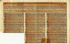 Russian Sheet of Coupons + Talon for Conversion bond of 150 Rubles dated 1910