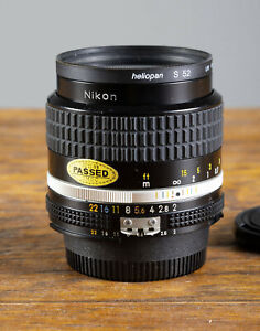 Exc++ Nikon NIKKOR Ai-s 35mm F2.0 Wide Angle Lens for 35mm Film Cameras Tested!