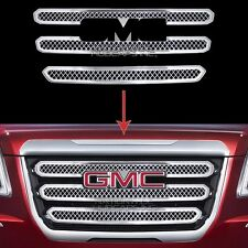 2016 2017 GMC TERRAIN CHROME Grille Overlay 3 Bar Front Grill Covers Inserts NEW