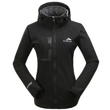 Women Fleece Lined Soft Shell Jacket Coat Ladies Outdoor Hiking Travel Outwear