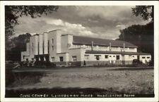 Livingston MT Civic Center Real Photo Postcard rpx