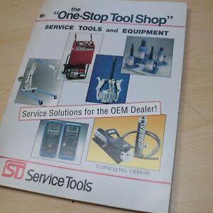 1998 CAT Caterpillar Dealer ST SHOP SERVICE TOOLS CATALOG Manual Book Guide List
