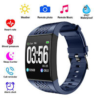 1,3 zoll touchscreen smartwatch herzfrequenz monitor wasserdichter pedo meter