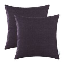 2Pcs High Class Deep Purple Cushion Covers Pillows Shells Sofa Home Decor 18x18""
