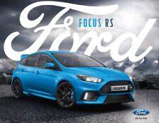 Ford Focus RS Hatchback UK Market PDF Brochure 18 Pages 2017 Model Year
