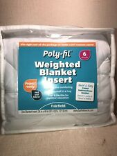 "Fairfield Polyester Poly-fil Weighted Blanket Insert 36"" x 48"" Weight 6 lb White"