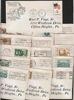 1960 Pony Express Centennial lot of 24 route cancels on full covers