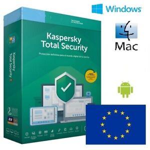 Kaspersky Total Security 2021 1 2 años 1, 2, 3, 4, 5, 10 dispositivos OFICIAL