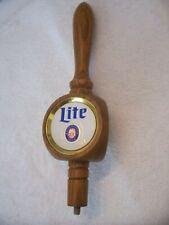 """Vintage Miller """"Lite"""" Wooden Draft Beer Keg Tap Handle Shift Knob"""