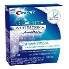 Crest 3D White 2 HOUR EXPRESS Whitestrips with Advanced Seal (12 Month Supply)