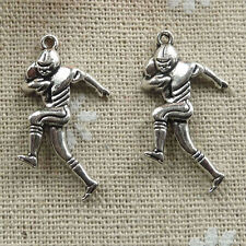 Free Ship 104 pieces tibetan silver football player charms 29x16mm #020