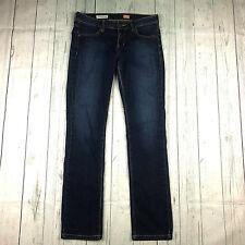 Pilcro and the letterpress womens 27 dark wash low rise slim straight leg jeans
