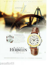 PUBLICITE ADVERTISING 046  2000   Michel Herbelin montre Newport chronographe ta