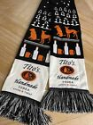 Tito's Handmade Vodka Dogs Ugly Knit Scarf Muffler Texas Black Embroidered Logo
