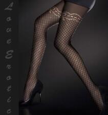 Stunning Black Rose Polka Dot 120 Stocking Pantyhose UK Stock Free Fast Delivery