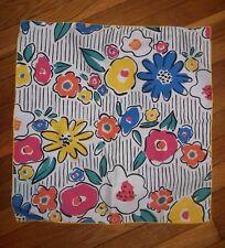 6 NWOT Colorful FLOWERS FUN Big Cloth Napkins 19 x 19 Oversized