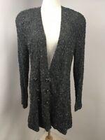 Carmen Marc Valvo Women's Size 12 Sequin Beaded Jacket Blazer Evening Lace EUC