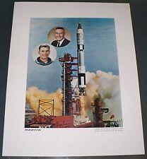 1965 MARTIN NASA SPACE FLIGHT GEMINI TITAN 3 GRISSOM YOUNG ASTRONAUTS ART PRINT