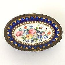 Coupe EMAIL Bleu de Sèvres Bronze NAPOLEON III Emaux Bressans XIXè 19thC