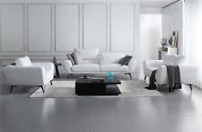 Ledergarnitur Set Complet - Noble Design Canapés Salon Meuble Assis Blanc 321