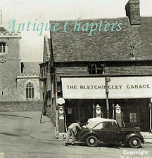 1958 Bletchingley Garage And Post Office Shell Petrol Pump Frith's Postcard A711