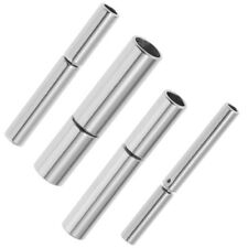 Cylinder Bayonet Push Clasps 18K Platinum Cord Ends Round Leather Jewelry Clasp