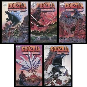 Godzilla Half-Century War Comic Set 1-2-3-4-5 IDW Rodan Mothra Hedorah Ghidorah