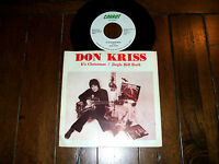 "Don Kriss - It's Christmas/Jingle Bell Rock 7"" Single Vinyl Record 45 RPM NM Cle"