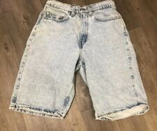 VTG 90's Levis SilverTab Baggy Grunge Skate Shorts Size 29 Made USA