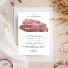 10 Wedding Invitations Day/Evening Rose Gold