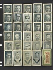 29 Trade Cards 1926 Sweet-acres Cricketers(Minties) Australian & English Players