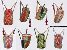 10Pc Lot Women Shoulder Bag Vintage Kantha Cotton Floral Drawstring Backpack Bag