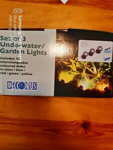 Decorus Set Of 3 Underwater/garden Lights New.
