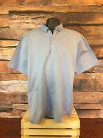 PETER MILLAR Men's Light Blue Short Sleeve Golf Polo Shirt Size L
