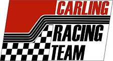Vintage Race Decals Carling Racing Graphic Track Car Nostalgic Stickers