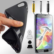 Handy Hülle Schutz Tasche Silikon Case Slim Cover S-Line Panzer Glas Folie 9in1